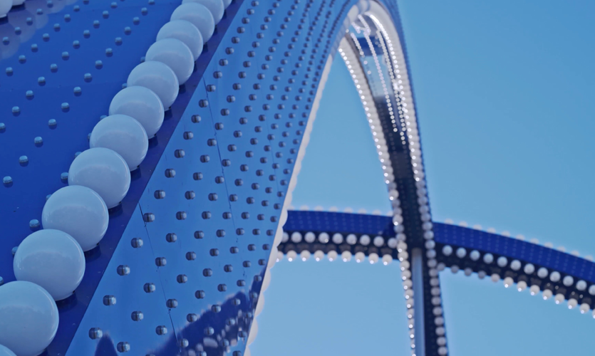 Detail Las Vegas Gateway Arches, Photo Credit: Matthew Givot, Forge Media Group